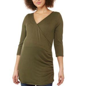 Planet Motherhood Maternity Side Cinch Nursing Top